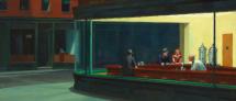 Edward Hopper's painting 1942 - called Nighthawks