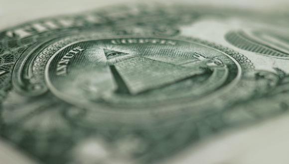סמל של הבונים החופשיים על שטר של דולר